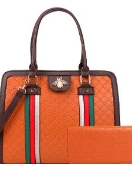 Bee Diophy Handbag (Brown)