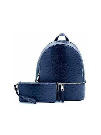 Blue Ostrich Backpack