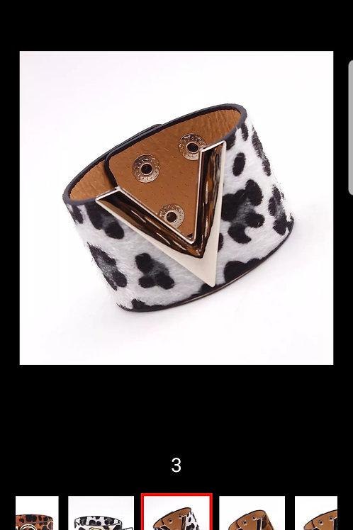 D&D Leopard Charm Leather Bracelet