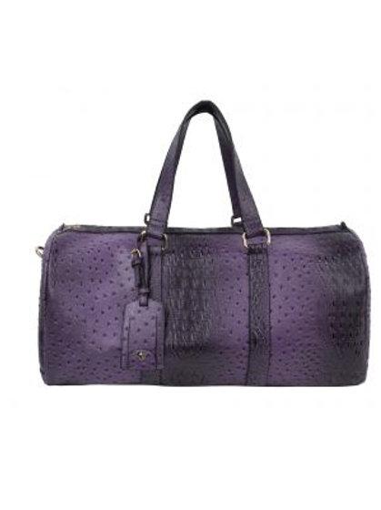 Purple Ostrich Duffle Bag