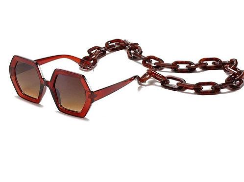 Brown Chain Glasses