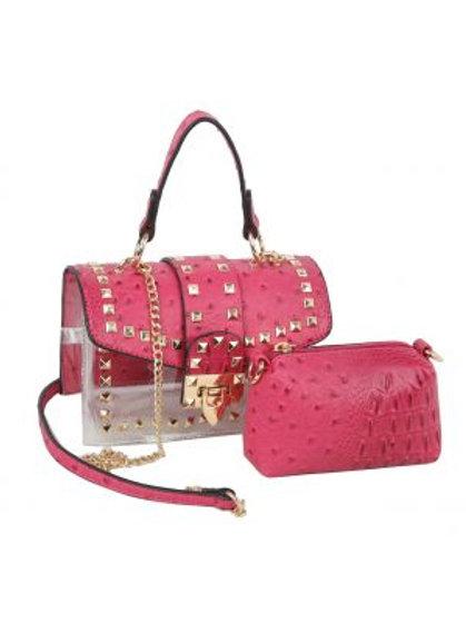 Studded Pink 2 in 1 Crossbody