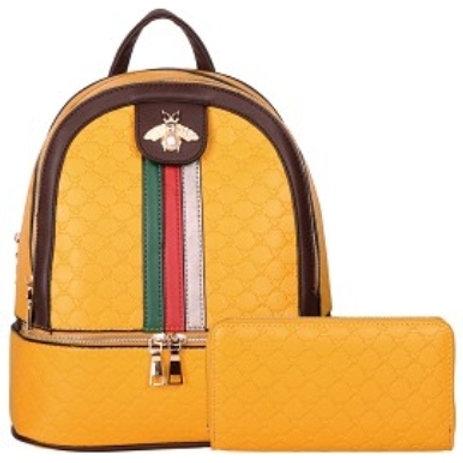 Beautiful Bee Backpack (Yellow)