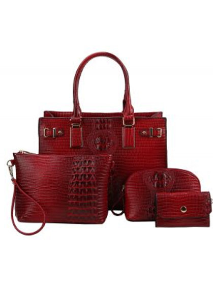 LeMiel 4 in 1 Handbag Set (Red)