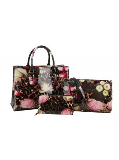Patent Leather Leopard Flower Hans