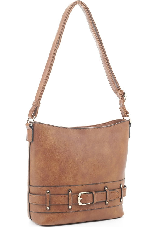 Brown Crossbody Handbag (Brown)