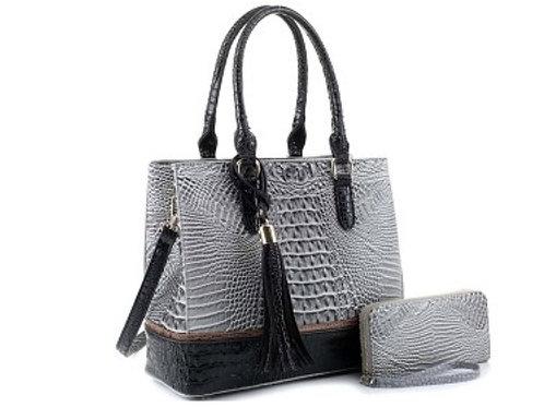 Black and Grey Emperia Handbag
