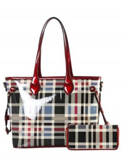 Diophy Stripe Handbag