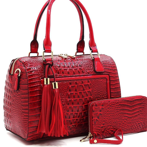 Alyssa Patent Leather Handbag