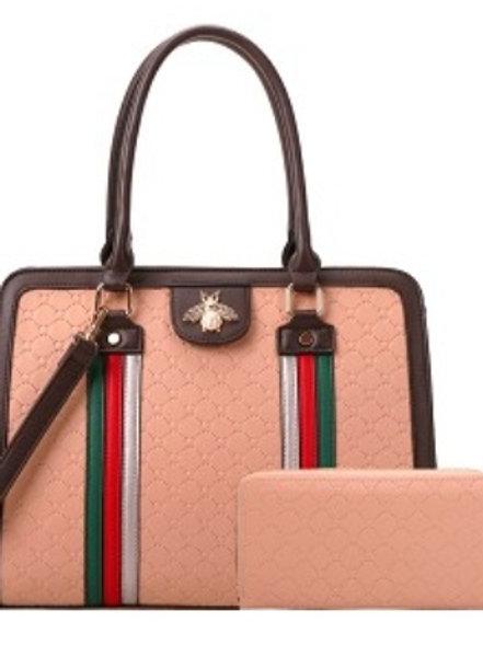 Bee Diophy Handbag (Pink)