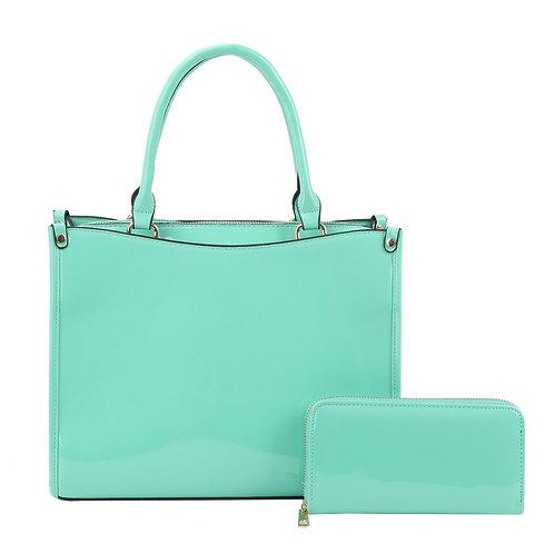 Mint Patent Leather Handbag