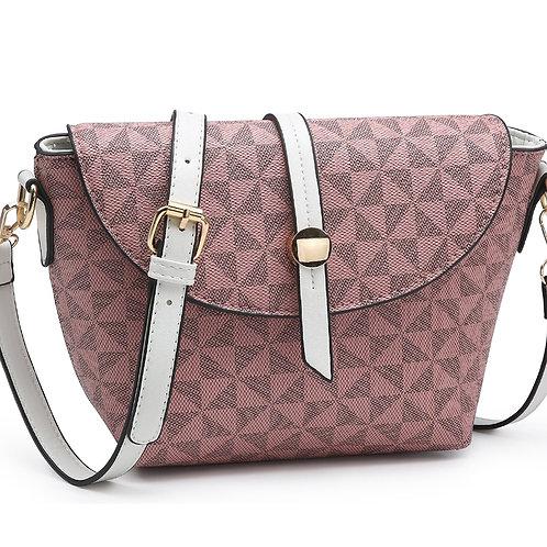 Checkered Crossbody (Pink)