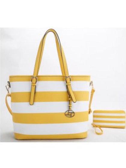 Yellow Stripe Handbag