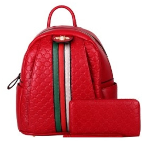 Beautiful Bee Backpack (Red)