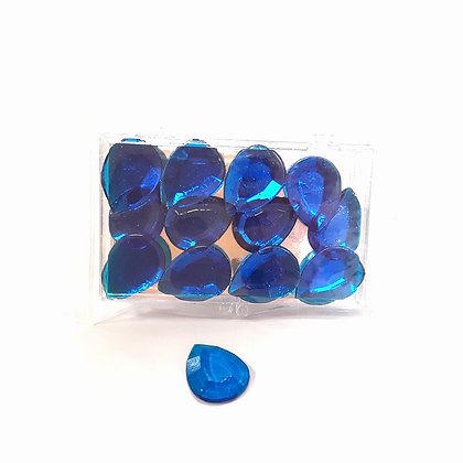 O'Crème Edible Large Teardrop Jewels Sapphire Blue