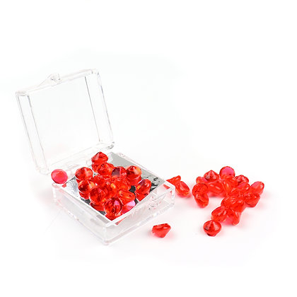 O'Crème Edible Red Diamond Studs 6mm (51 Pieces)