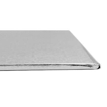 "O'Creme Square Silver Cake Drum Board 1/4"" Thick 14"" x 14"""