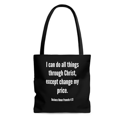 Business Proverbs Floral Tote Bag
