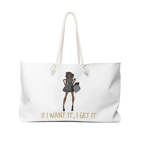 Got Her Own Weekender Bag - White