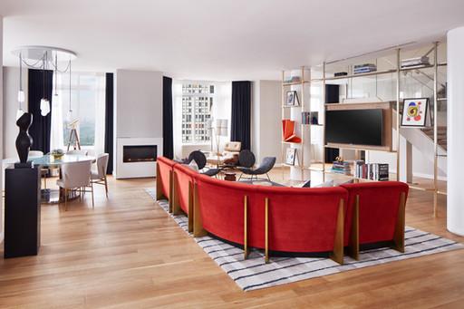 Conrad Hotel NYC Penthouse Bespoke Furniture fabrication