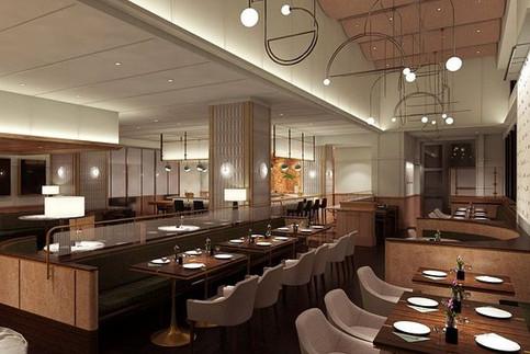 Dabble Bar restaurant interiors custom fabrication metal fabrication