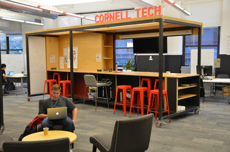 Cornell Tech Google mobile Workspace custom metal fabrication
