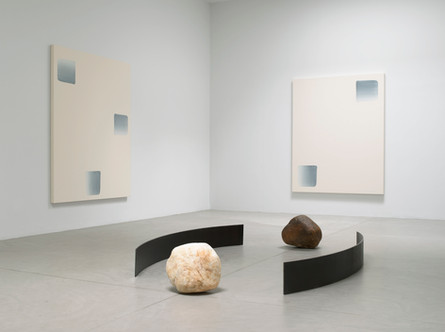 Art fabrication Metal and stone sculptures and paintings by Lee Ufan at Pace Gallery