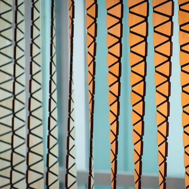 Daniel Rozin - Phase Twist kinetic art fabrication
