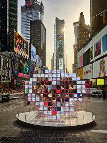 Art Fabrication Heart Squared NYCxDESIGN Times Square