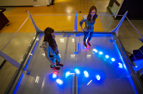 MOMATH Interactive robotics exhibit fabrication