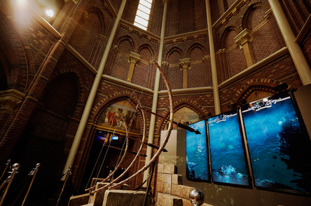interactive archery Game of Thrones exhibit design and fabrication