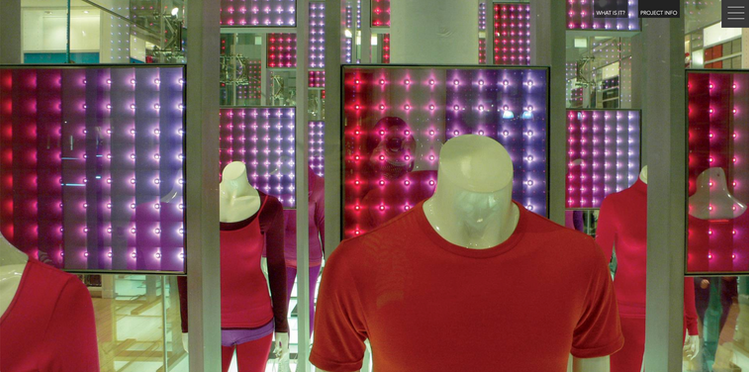 Interactive LED retail visual display fabrication Uniqlo NYC Flagship