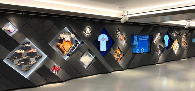 Major League Baseball MLB NYC Headquarters custom display wall exhibit fabrication