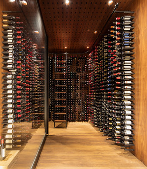 Four Seasons restaurant Wine Room interiors custom fabrication