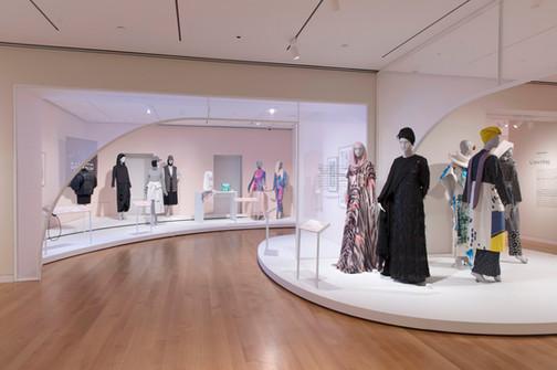 Contemporary Muslim Fashions exhibit fabrication Cooper Hewitt Design Museum