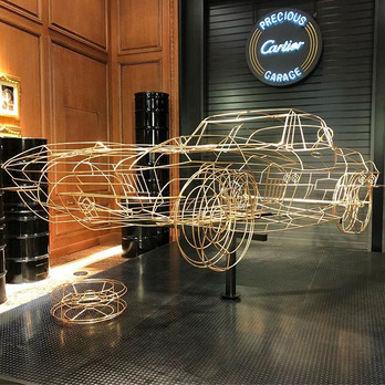 Cartier Fashion Week event decor fabrication prop fabrication