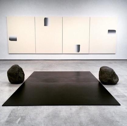 Lee Ufan steel boulder sculptures Pace Gallery art fabrication
