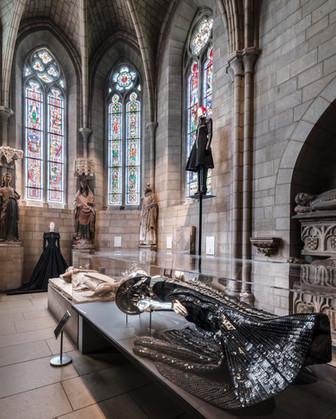 Heavenly Bodies Metropolitan Museum of Art The Cloisters exhibit fabrication