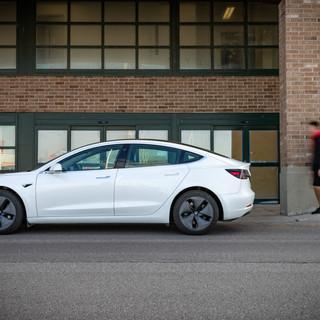 Tesla Model 3 lifestyle shoot