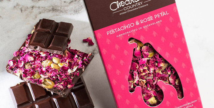 Chocolate Country Pistachio & Rose 100g