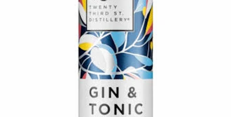 23rd Street Gin and Tonic Cans 300ml