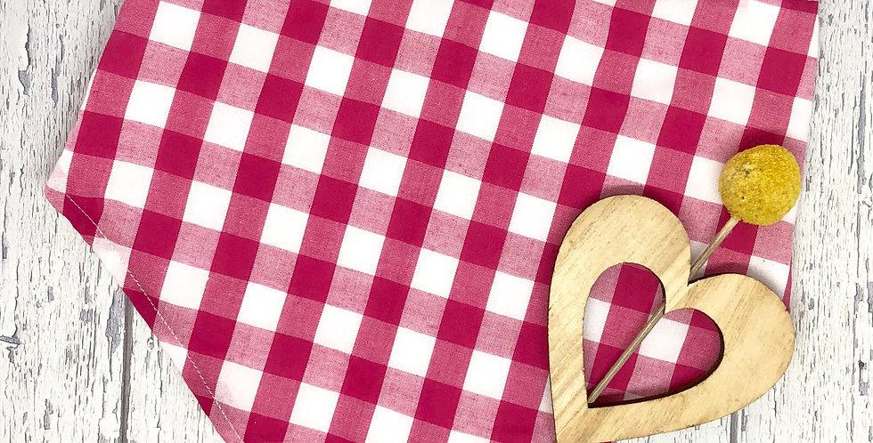 Walandella Designs - Bandanna Bib Red Gingham