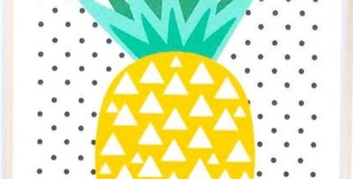 Card - Blank Pinapple