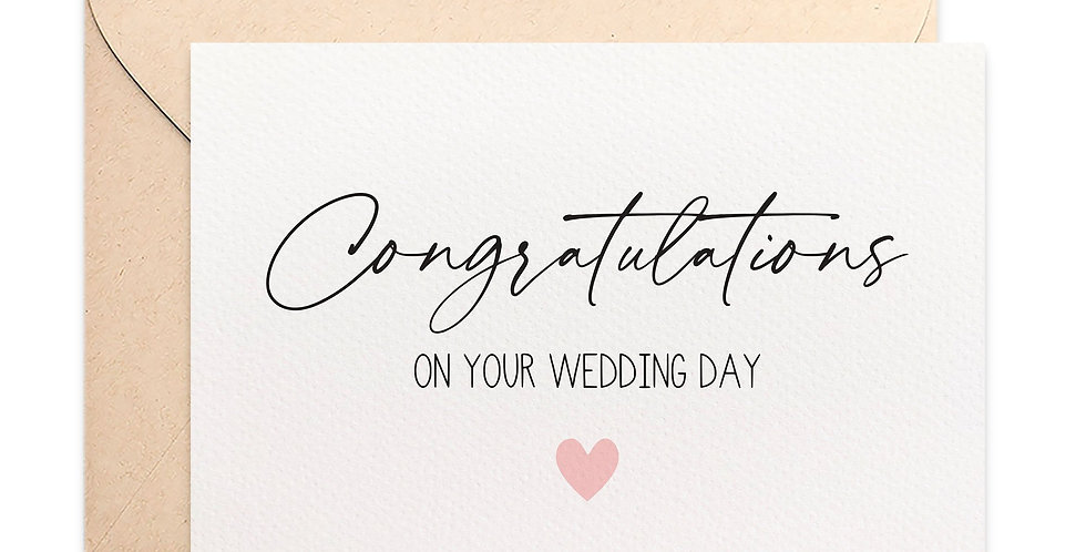 Card - Congratulations On Your Weddind Day