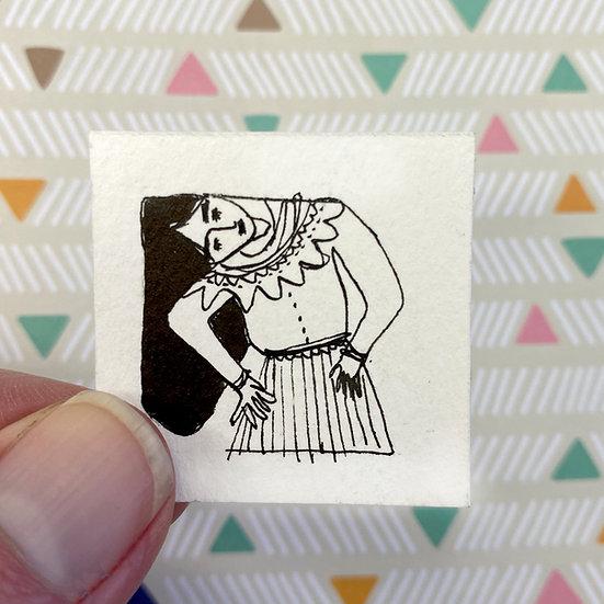 'Girl sideways' 1309