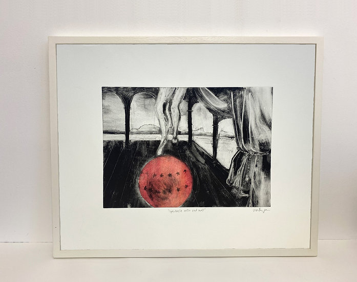 'Spectacle with red ball'