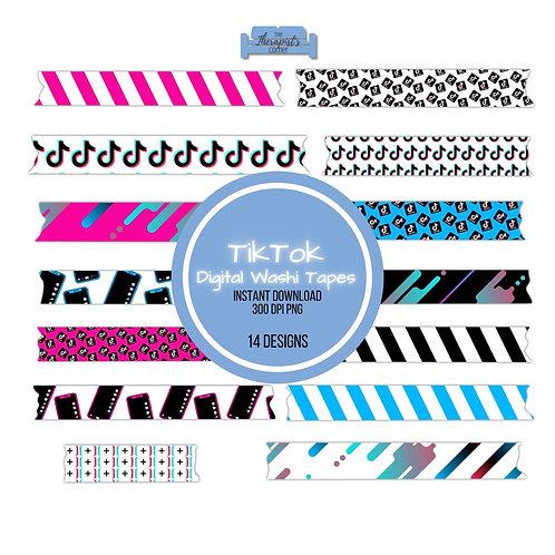 TikTok Digital Washi Tapes