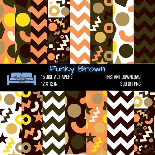 Funky Brown Digital Paper