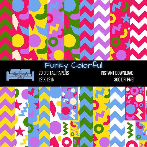 Funky Colorful Digital Paper