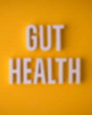 Gut Health lettering sign made with colo
